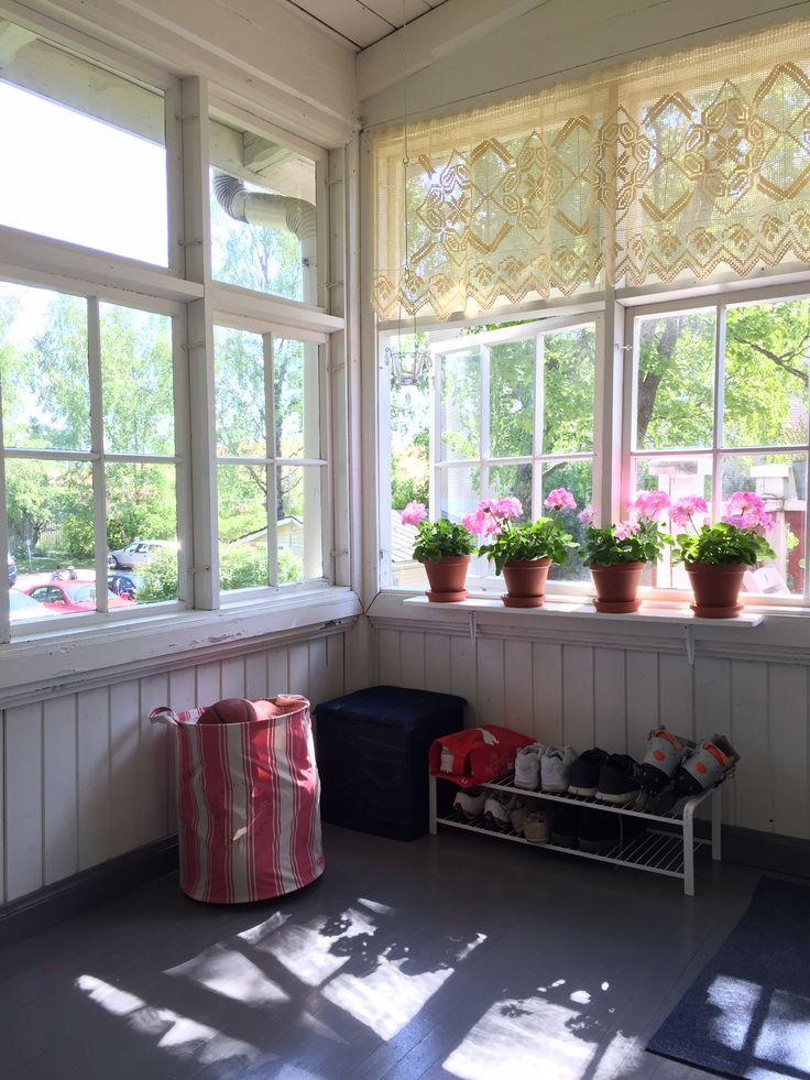 Storage and geraniums