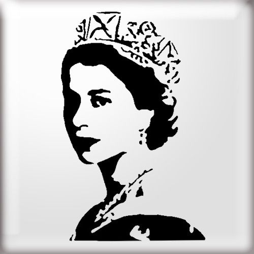 Young Queen Elizabeth Stencil From The Stencil Studio Online Shop V Young Queen
