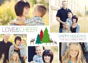 Mixbook Reindeer Collage Christmas Cards