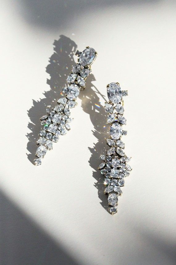 Iosselliani - Crystal Cluster Earrings | BONA DRAG