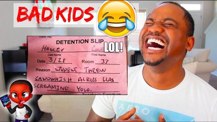 FUNNY DETENTION SLIPS From REAL KIDS   TOP 60 School FAILS
