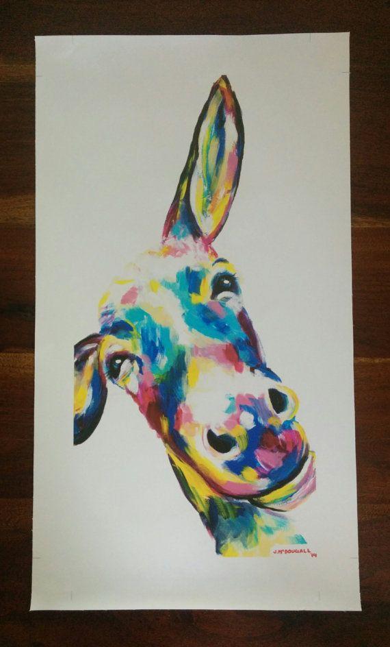 Wonky Donkey Canvas print 60.9cm x 30.8cm by ArtByJackieM on Etsy