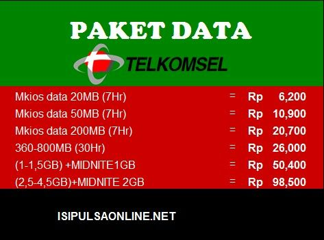 Paket data Telkomsel Isipulsaonline.net
