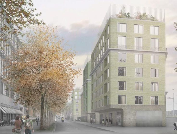 ''Wohnen' Zollstrasse Building in Zurich by Caruso St. John Architects Competition entry, second prize