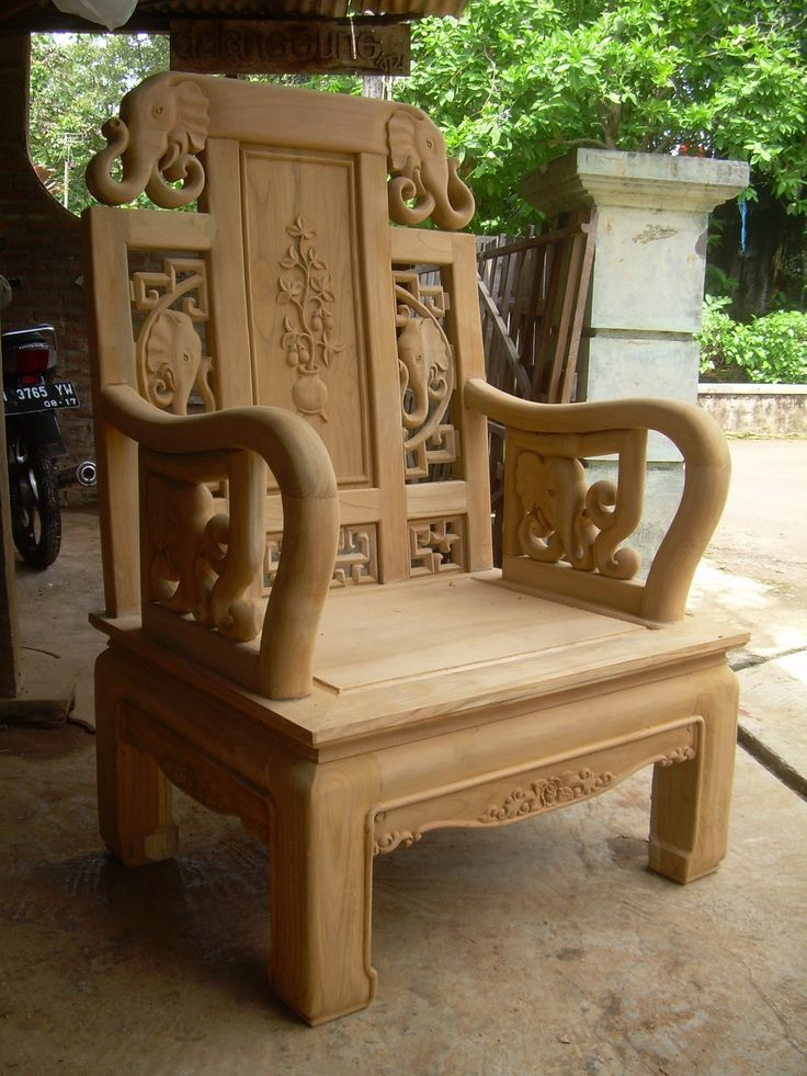 elephant chinese style arm chair