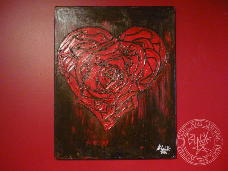 """Lovely Rose""   16"" x 20""   Acrylic on canvas   Black Star Artwork by Leonard Walsh  www.facebook.com/BlackStarArtwork http://bit.ly/1bCN2xI"