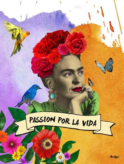 Arte: FRIDA - PASSION POR LA VIDA Artista: Ana Paula Hoppe