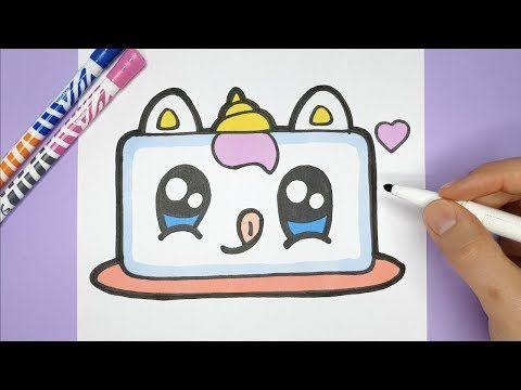 Kawaii Einhorn Kuchen Zeichnen Und Malen Kawaii Bilder Zum Nachmalen Youtube Bilder Zum Nachmalen Nachmalen Selber Malen