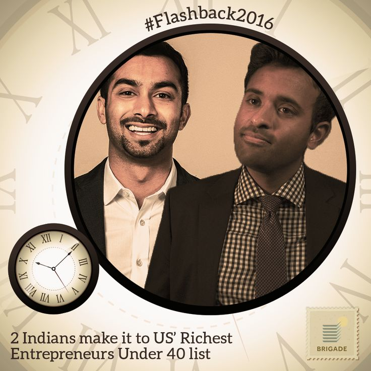 Apoorva Mehta (Founder-Instacart) and Vivek Ramaswamy (Founder-Roivant & Axovant Sciences) made it to the #Forbes list of US #RIchest #Entrepreneurs under 40 List.