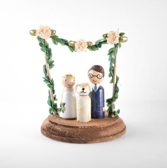 Spring Cake Topper  spring wedding cake topper by LovebirdsGoods