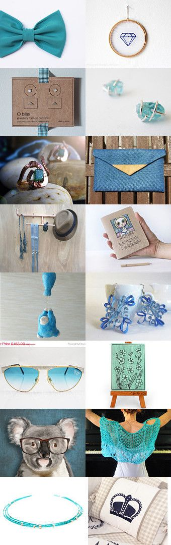 Some kind of light blue by Ginger Zoo and Co. on Etsy--Pinned with TreasuryPin.com