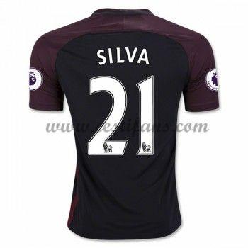 Manchester City Fotbalové Dresy 2016-17 Silva 21 Venkovní Dres