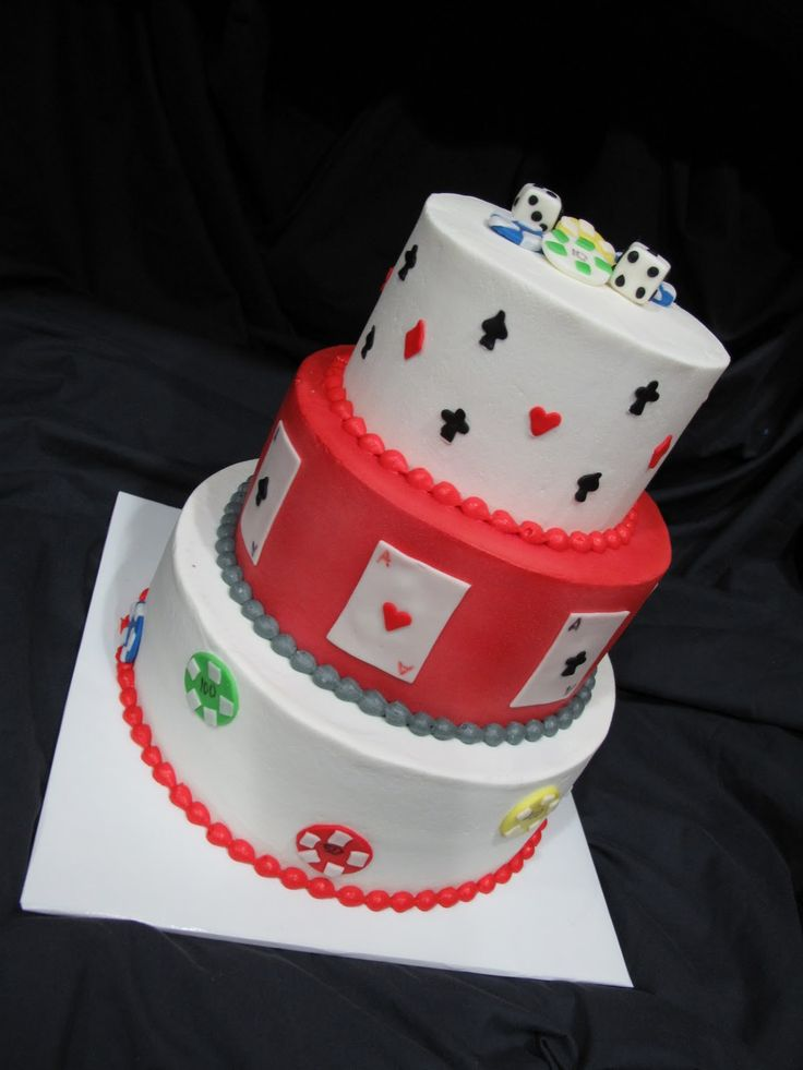 Poker birthday cake pictures