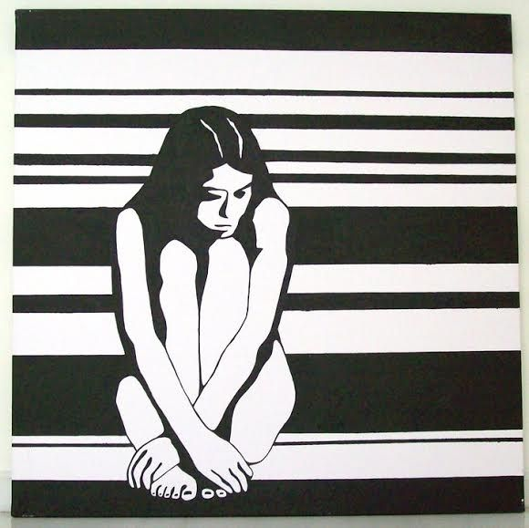 Black and White - Acrylic on canvas 100x100