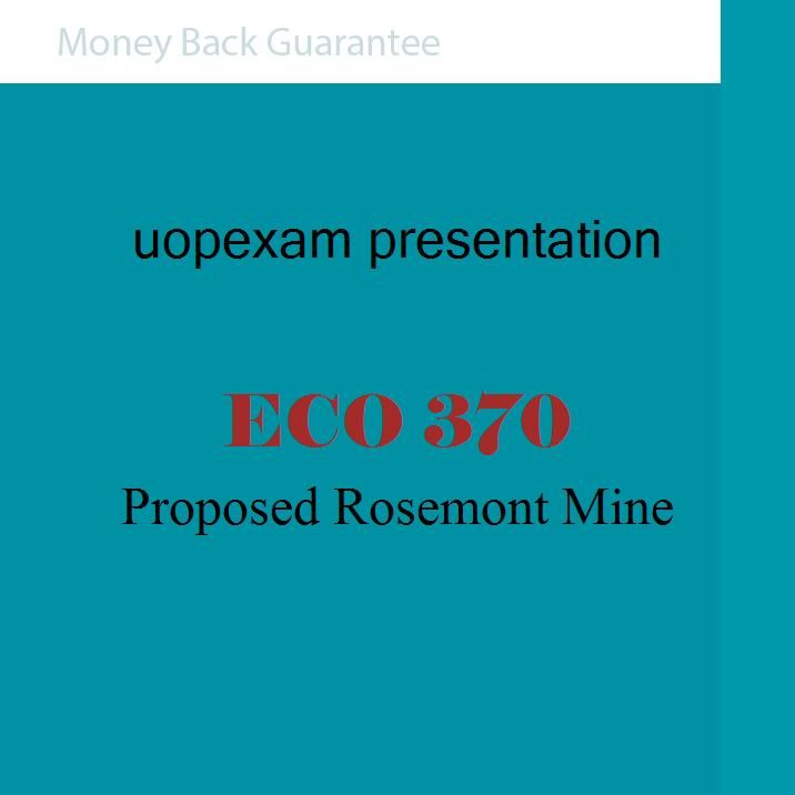 Proposed Rosemont Mine(Power Point Presentation)