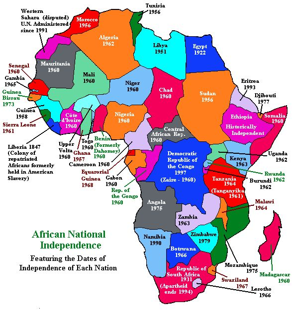 continental map of british colonies past and present in Africa - Google Search