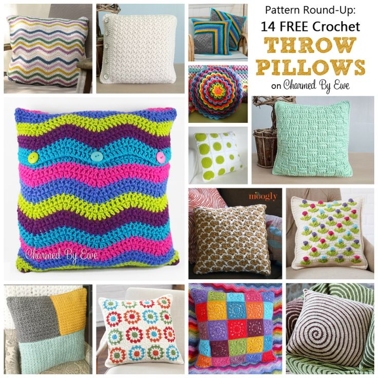 Patrón Round-Up: 14 Crochet GRATIS cojines