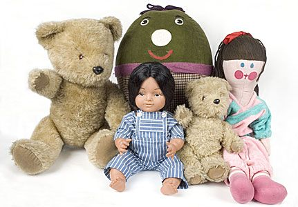 playschool tv programme:  Big ted, Humpty, Jemima, Hamble and Little ted