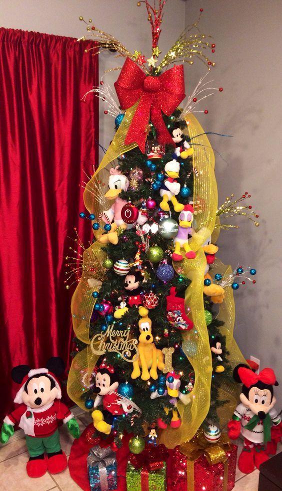 rbol de navidad disney con los personajes principales