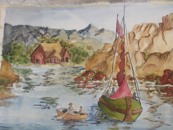 Church of the Poor,  Watercolour by Arlyn