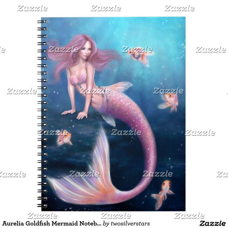 Aurelia Goldfish Mermaid Notebook. Regalos, Gifts. #notebook #cuaderno