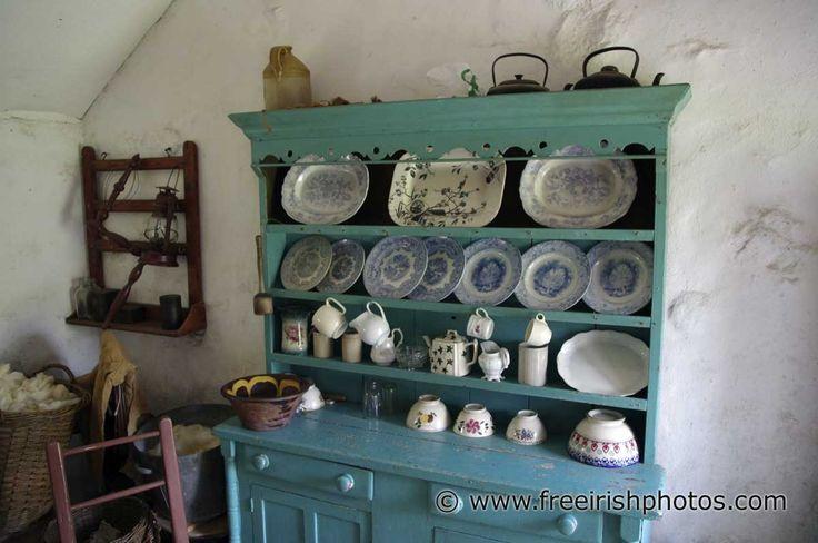Irish Cottage INTERIORS | Dressers in Old Irish Cottages - Free Irish Photos, Desktop ...