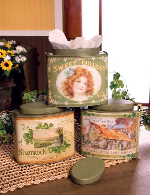 ♧Irish Tea Tins (1) From: Victorian Trading Co, please visit