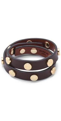 leather wrap bracelet / tory burch