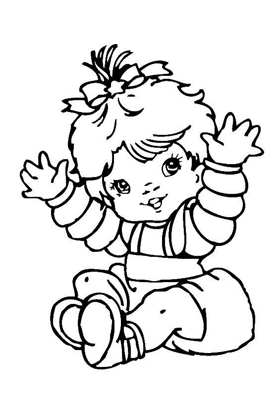 Malvorlage Baby Madchen   Malbild