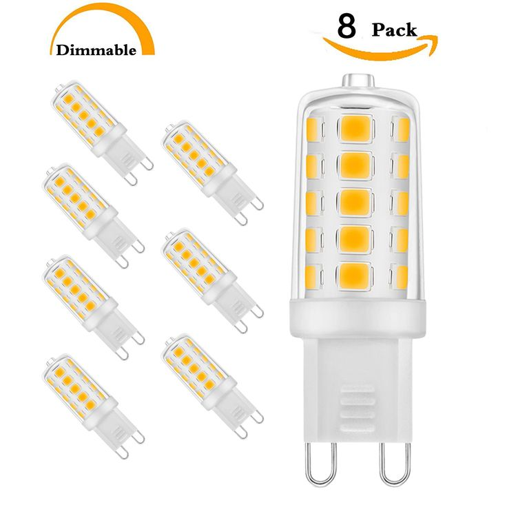 Unilamp G9 LED Light Bulbs, 5W (40W Halogen Equivalent), 450LM, Warm White(3000K),Dimmable G9 LED Bulb, AC 120V, 360°Beam Angle, G9 Base, G9 Bulb for Home Lighting(8-Pack)