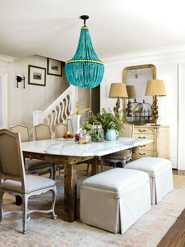 Okay...how beautiful is the chandelier in this beige room
