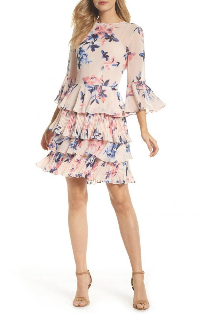 What To Wear To A Spring Wedding 2018 Spring Wedding Guest Dresses Junebug Weddings Tiered Dress Guest Dresses Petite Dresses