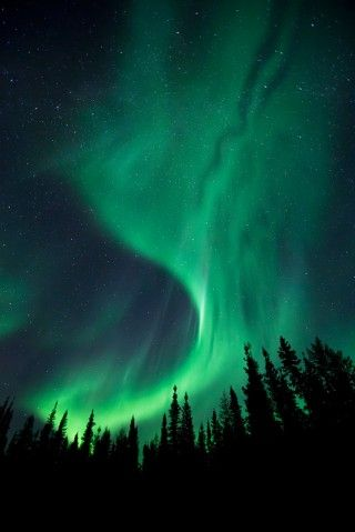 To watch the Northern Lights paint the sky