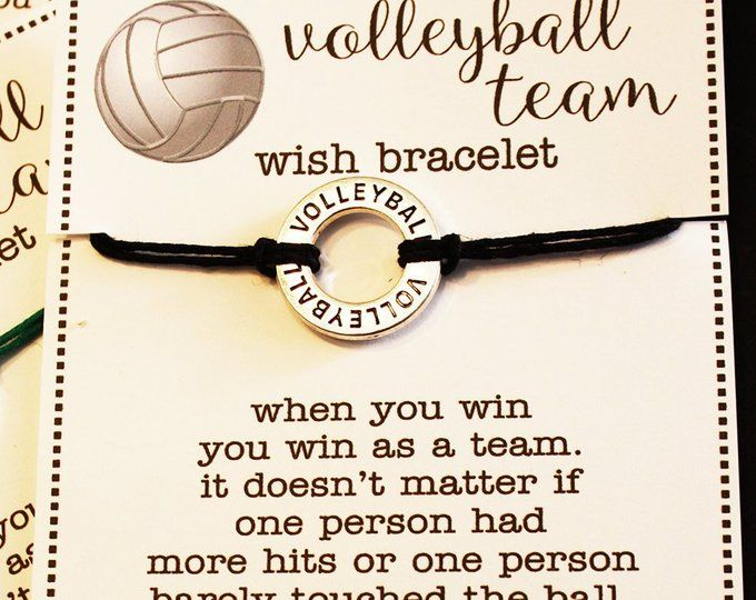 15 Volleyball Affirmation Charm Wish Bracelets With Custom Card .. Pick Your Color .. Great for Team Gifts Team Spirit