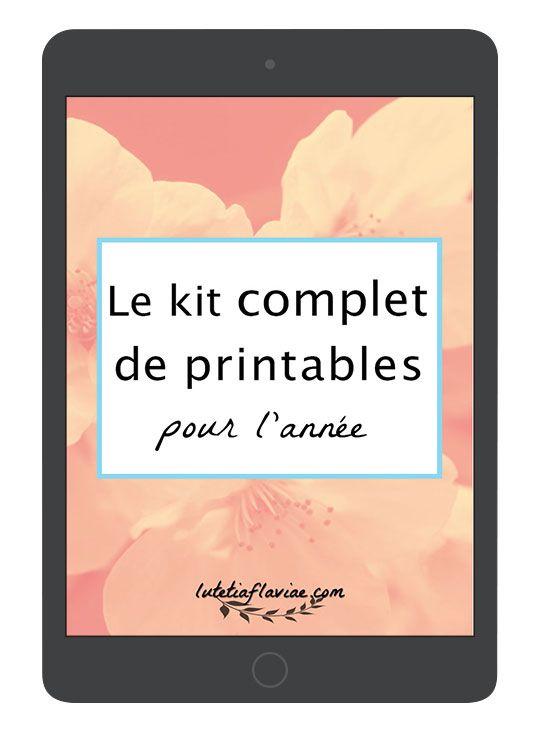 Le kit complet de printables pour l'année comprend 60+ listes pour s ...
