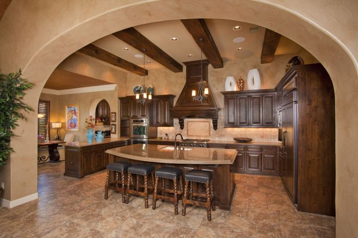 Tuscan kitchen #KBHomes. I want to make Christmas cookies in this kitchen !