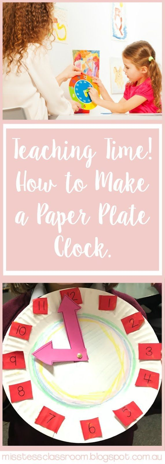How to Make a Quick Paper Plate Clock - includes F R E E template!