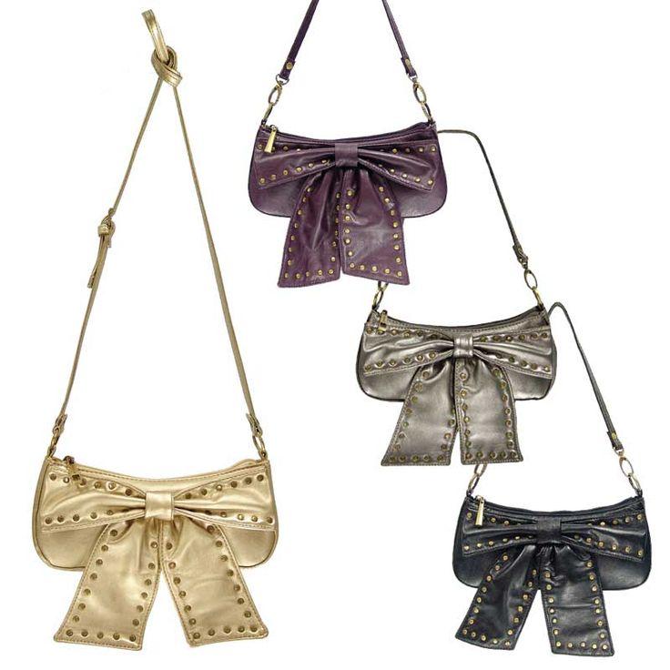 Small Handbag with Large Bow & Studs