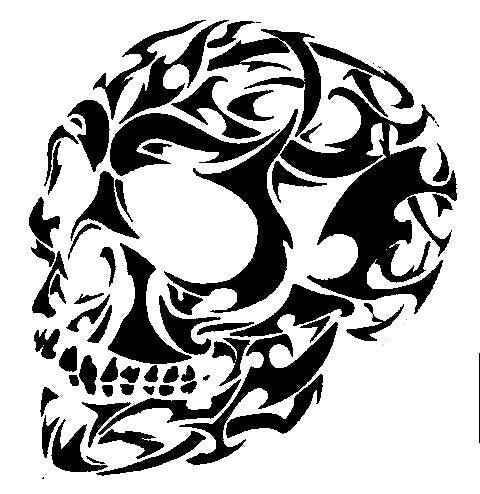 Skull stencil art pinterest skull stencil for Spray on tattoo stencils