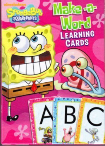 Learn The Alphabet With Spongebob And His Friends. - SpongeBob Squarepants Alphabet Flash Cards by Nickelodeon. $22.38. SpongeBob Squarepants Alphabet Flash CardsLearn the alphabet with SpongeBob and his friends. Large set of flash cards measures 3 x 5 inches. Each card has capital letter on front, lower case on reverse side. These flash cards are designed to build letter recognition skills. Filled with full color images of SpongeBob and his friends, these learning cards are ...