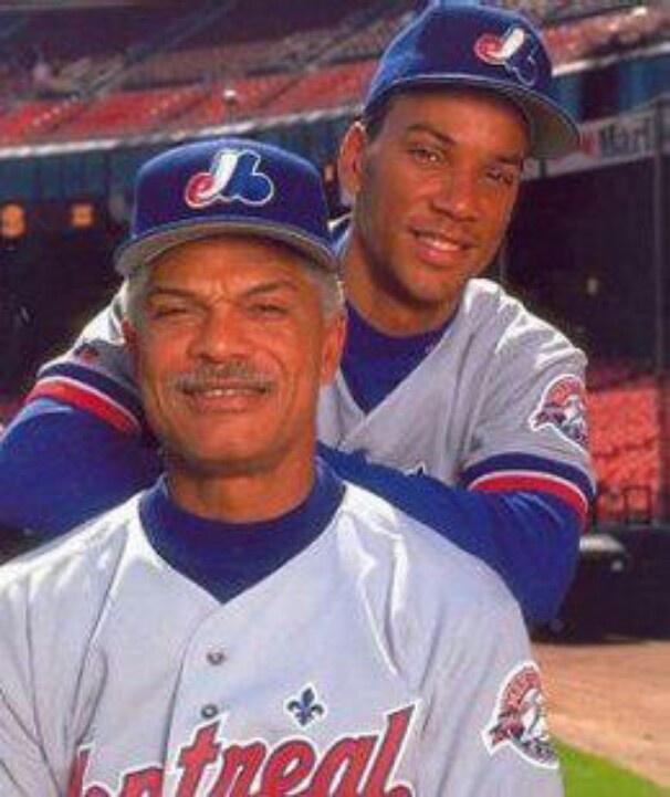 Montreal Expos ♥♥♥ Moose le joueur & le fils & son père puis gérant Filipe Alou