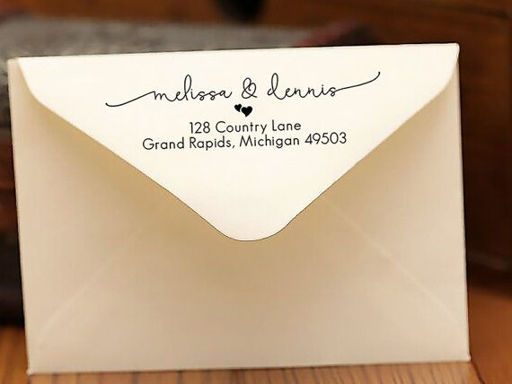 Personalized SELF INKING Wedding Stationery Stamper Save The Date Stamp Custom Address Self Inking Personalised