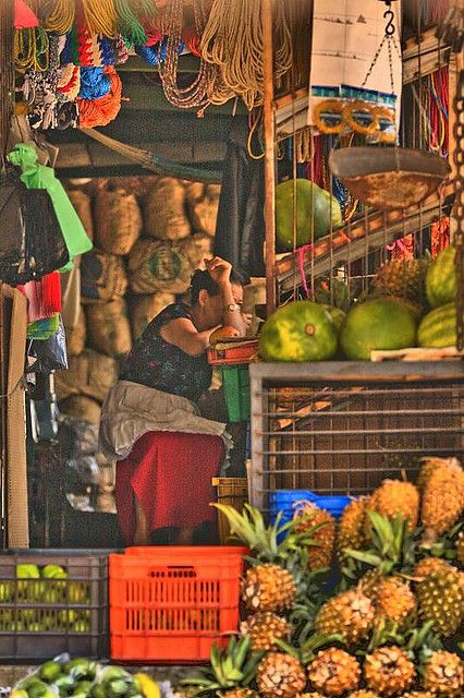 The Market lady...Honduras