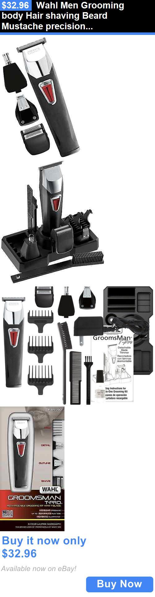 Shaving: Wahl Men Grooming Body Hair Shaving Beard Mustache Precision Trimmer Kit . BUY IT NOW ONLY: $32.96