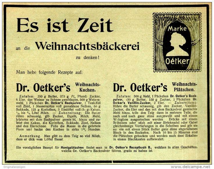 Original Werbung/ Anzeige 1909   DR. OETKER   Ca. 180 X 140