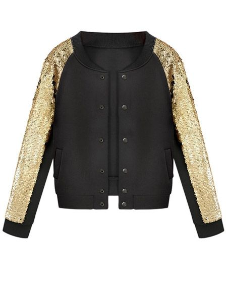 Trendy Band Collar Paillette Single Breasted Assorted Colors Jackets Only $32.95 USD More info...