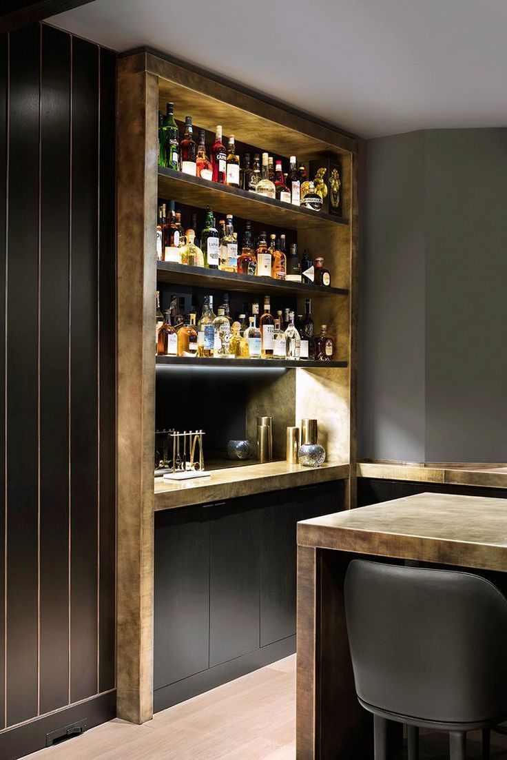 The Cleverest And Most Unique Home Bar Ideas For Every Imbiber Craftspost Modern Home Bar Home Bar Rooms Diy Home Bar