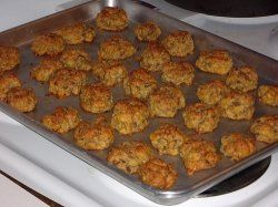 My mom makes the best sausage balls...my favorite food on Christmas morning!