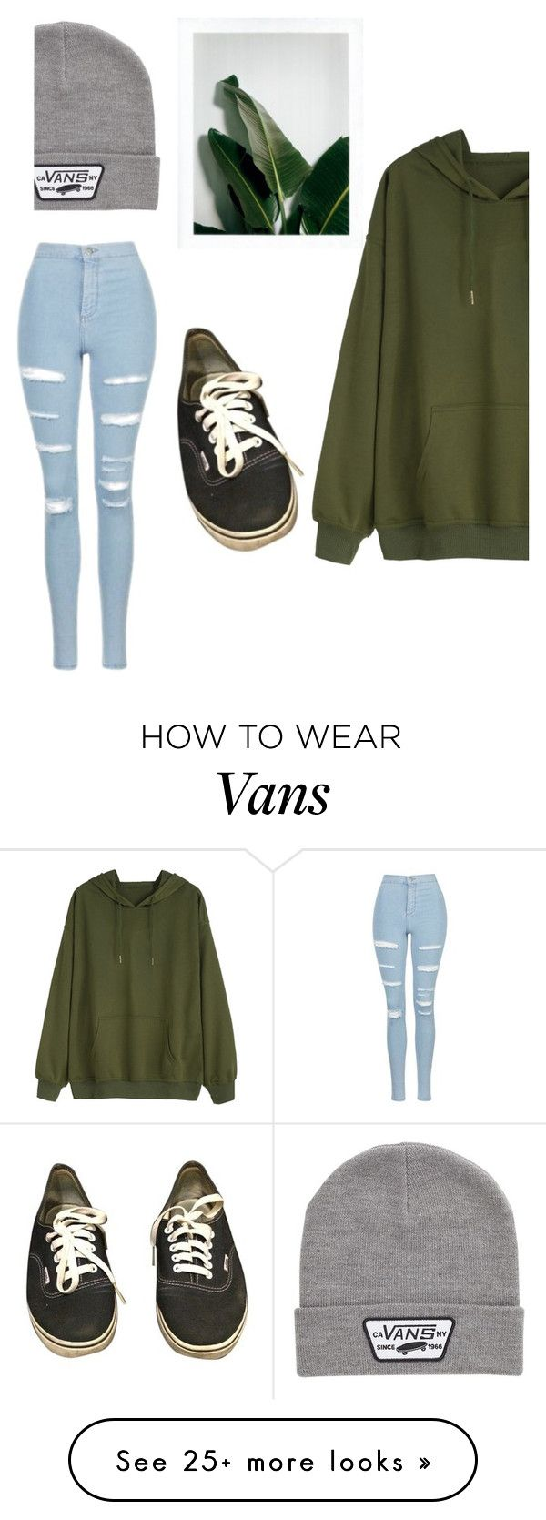 """Green"" by menskah on Polyvore featuring Vans and Topshop"