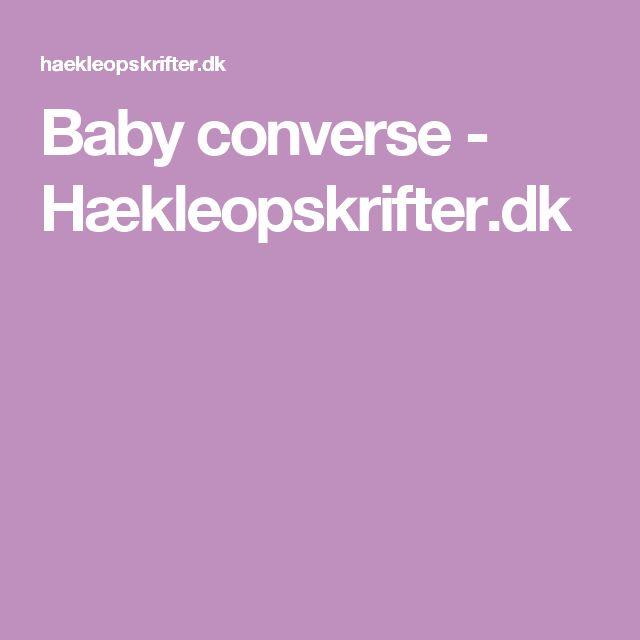 Baby converse - Hækleopskrifter.dk
